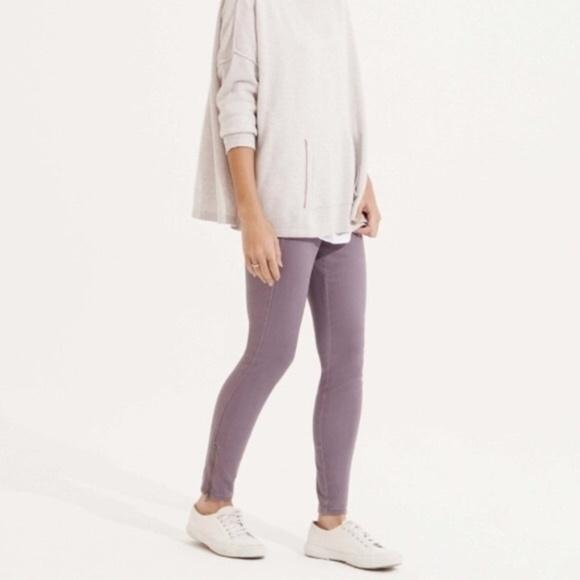 21c4d9ca595d9 Lou & Grey Pants | Lou Grey Brushed Up Violet Ankle Zip Leggings ...
